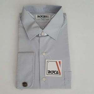 Roca Mens Long Sleeve Grey Dress Shirt